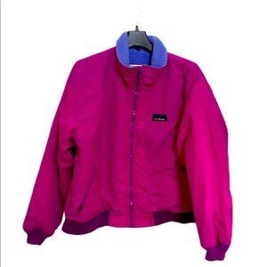 LL bean jacket size L